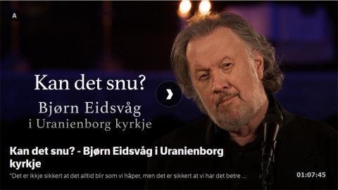 Kan det snu? - Bjørn Eidsvåg i Uranienborg kyrkje.